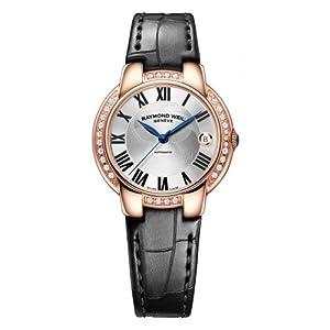 Raymond Weil Jasmine Automatic Silver Dial, Aligator Strap Ladies Watch 5229-PCS-01659