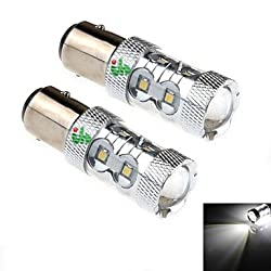 See 2Pcs 1157 / BAY15D 11W 11x2323SMD 500LM 6000K White Light LED for Car Headlamp / Foglight (DC 10-30V) Details
