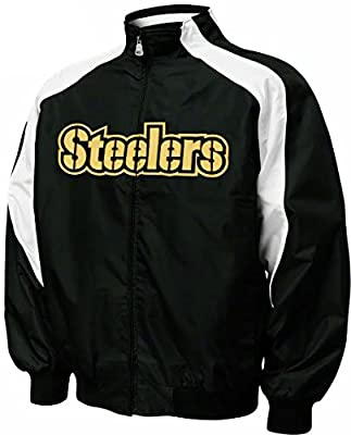 Pittsburgh Steelers NFL Team Apparel Textured Full Zip Jacket Big & Tall Sizes