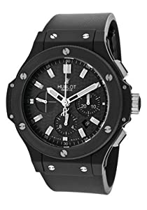 Men's Big Bang Automatic Chronograph Black Textured Dial Black Rubber