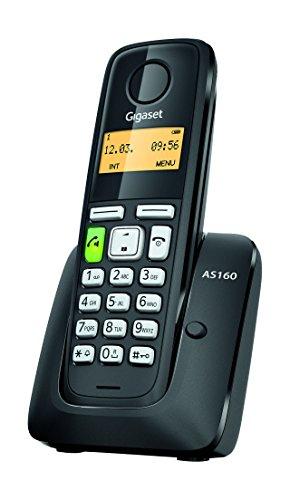 Gigaset AS160 Telefono Cordless, Nero