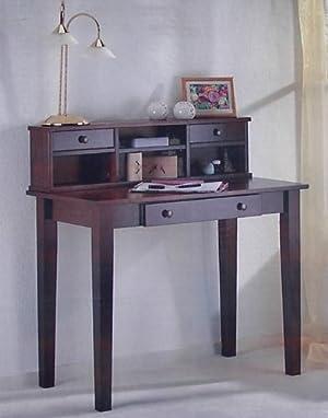 Sekretär Schreibtisch Computertisch Tisch Kiefer Massiv Antikfarben Mit  Aufsatz Sonderangebote