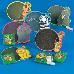 Cardboard Zoo Animal Magnetic Chalkboard Sets
