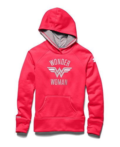 Under Armour Girls' Alter Ego Superhero Armour® Fleece Hoodie Youth Medium Neo Pulse