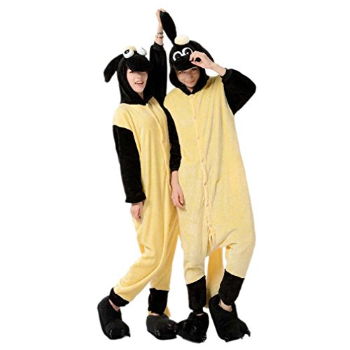 Women Men Adult Shaun the Sheep Unisex Anime Christmas Halloween Carnival Cosplay Kigurumi Outfit Costume Onesies Pajamas Romper Clothing Piece suits