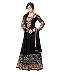 Monalisa Fabrics Women's Unstitched Dress Material (2253101_Black _Free Size)