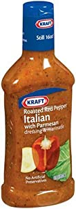 Kraft Dressing, Roasted Red Pepper Italian, 16-Ounce Bottles (Pack of 6)