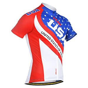 2013 New Design Monton Mens USA Flag Professional Breathe Comfotable Cycling Jersey Bike Clothes by Monton