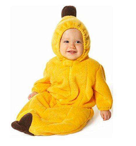 ベビー服 おくるみ バナナちゃん 着ぐるみ カバーオール ダブルアウター・フリース内層コットンライナー (75cm)