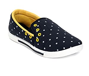 Kelly Men's Black Yellow - 20A Canvas Casual Shoes