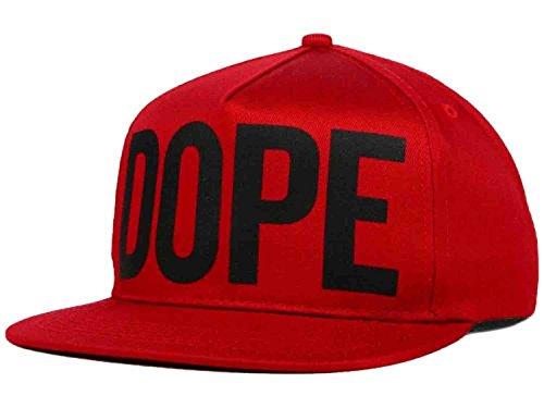 Dope Overt Red Black Flat Brim Snapback Hat Cap Osfa - Import It All 2150c5f14d1