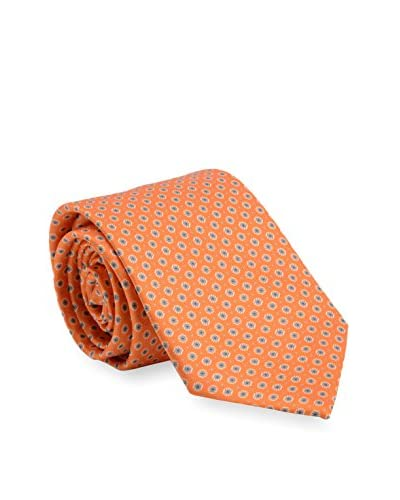 Brioni Men's Medallion Silk Tie, Orange