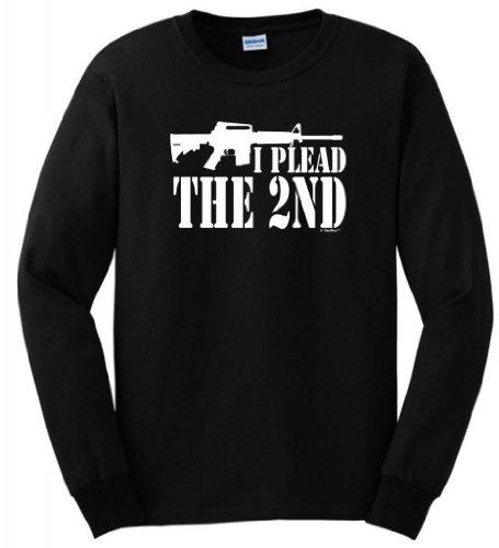 I Plead The 2Nd Long Sleeve T-Shirt Xl Black