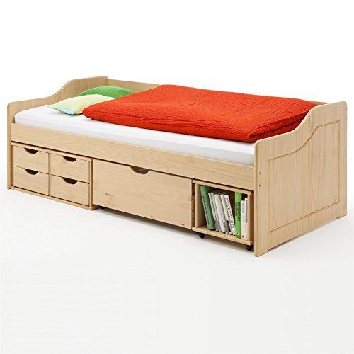 Funktionsbett-Kojenbett-Einzelbett-SENTA-90-x-200-cm-BxL-Kiefer-buchefarben