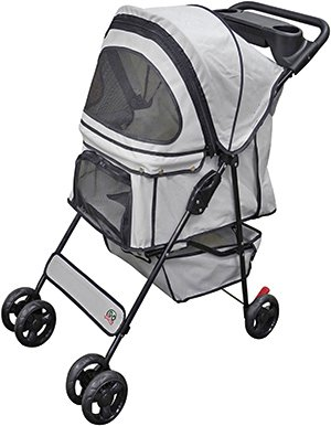 Go Pet Club Pet Dog/Cat Stroller, Beige