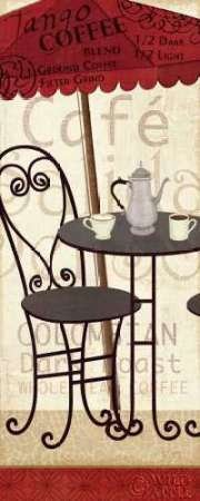 Veronique Charron Tango caffè, in stampa giclée, su tela in carta e decorazioni disponibili, Tela, SMALL (8 x 20 Inches )