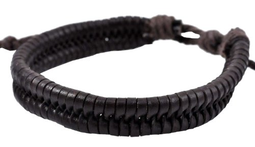 Brown Braided Leather Bracelet / Leather Wristband / Surf Bracelet, #129