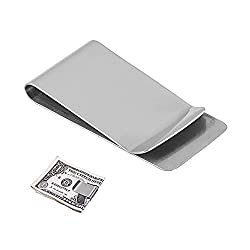 Stainless Steel Money Clip Holder Slim , Silver