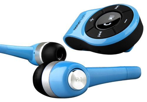 NoiseHush NS560-11976 Clip-on Bluetooth Stereo Headset for all Tablet, Apple iPad/iPhone and Cell Phones - Retail Packaging - Blue NoiseHush Bluetooth Headsets autotags B0092MD7D4
