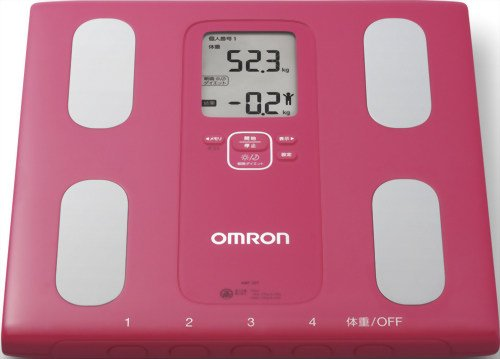Omron KARADA Scan Body Composition & Scale | HBF-207 Pink (Japanese Import)