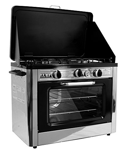 Camp Chef Camping Outdoor Oven with 2 Burner Camping Stove (Rv Oven Propane compare prices)