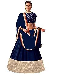 Blue Georgette Embroidered Lehenga