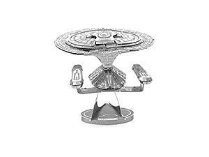 iLoonger® - USS Enterprise NCC-1701D - 3D Laser Cut Building Metal Model Kit Metallic Nano Puzzle Educational DIY Assembling Toy Star Trek
