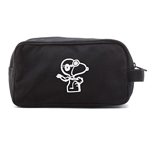 snoopy-flying-ace-canvas-shower-kit-travel-toiletry-diaper-bag-case-in-black-white
