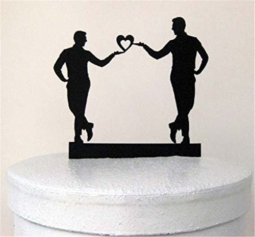 Boy's Love, Mr & Mr Gay Wedding Cake Topper by Cake Topper [並行輸入品]