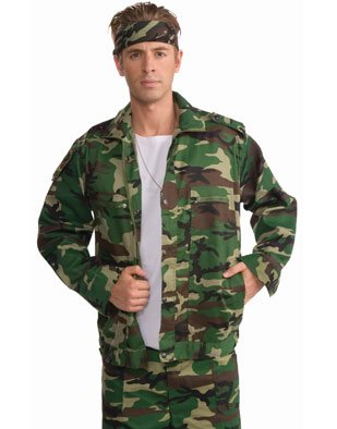 Forum Novelties Inc Men's Camouflage Army Jacket