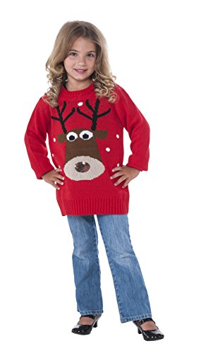 Rubie's Costume Reindeer Ugly Christmas Sweater Costume, One Color, Small
