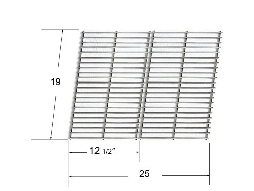 66662 - Bakers And Chefs, Bbq (Barbecues) Galore, Brinkmann, Broil-Mate, Charbroil, Capt'N Cook, Charmglow, Grand Hall, Grill Chef, Grill Mate, Grillpro, Members Mark, Sams Club, Sterling And Turbo Gas Grill Replacement Stainless Steel Cooking Grid front-577723