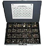 Hex Bolt (Hex Cap Screw), Hex Nut, Flat Washer and Lock Washer Assortment Grade 8, 1025 Pieces