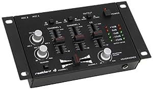 Auna TMX-2211 Table de mixage 3/2 canaux Noir