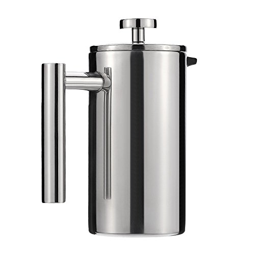 Cafetiere Stainless Steel French Press Coffee Maker Pot Double Wall Espresso Coffee Maker Jug 350ml (Krupps Milk Frother compare prices)