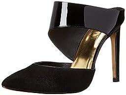 Ted Baker Women\'s Amenoa Dress Pump, Black Leather/Suede, 5 M US
