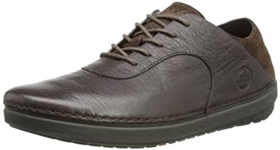 Fitflop Men's Flex Leather Shoes, Chocolate, 7 UK