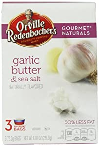 Orville Redenbacher's Gourmet Naturals Popcorn, Garlic Butter and Sea Salt, 76.3 Grams, 3 Count