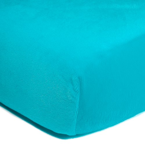Luxe Basics So Softy Fitted Crib Sheet, Turquoise