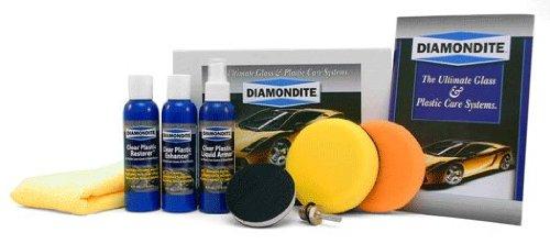 Diamondite Clear Plastic System Kit For plastic headlight lenses