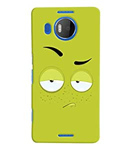 ColourCrust Microsoft Lumia 950 XL Mobile Phone Back Cover With Smiley Expression - Durable Matte Finish Hard Plastic Slim Case