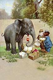 30 x 20 Stretched Canvas Poster Bear\'s Picnic Elephant Trunk