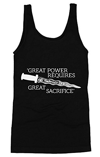 Once Upon A Time Quote Great Power Requires Great Sacrifice Women's Tank Top Small