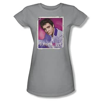 Elvis Presley - Womens 35 Jacket T-Shirt In Silver, X-Large, Silver