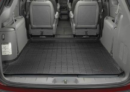 2005-2007 Dodge Grand Caravan Black WeatherTech Cargo Liner [For Vehicles with Stow'n Go Seating; Coverage Behind 2nd Seat] (Weathertech Dodge Grand Caravan compare prices)