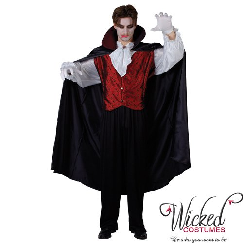 Wicked Dracula Prince Of Darkness Mens Halloween Costume Large