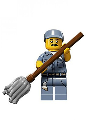 LEGO-Series-15-Collectible-Minifigure-71011-Janitor