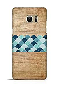 Cover Affair Wood / Coins Printed Back Cover Case for Samsung Galaxy Note 7