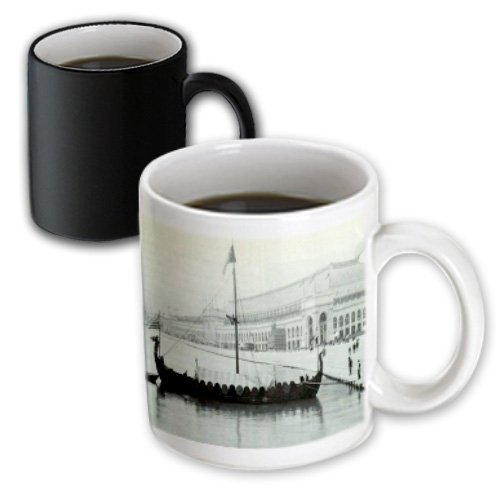 Mug_174218_3 Florene - Vintage Transportation - Image Of Viking Ship At Chicago Worlds Fair - Mugs - 11Oz Magic Transforming Mug