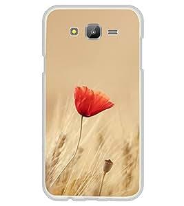 Orange Flower 2D Hard Polycarbonate Designer Back Case Cover for Samsung Galaxy On7 G600FY :: Samsung Galaxy On 7 (2015)